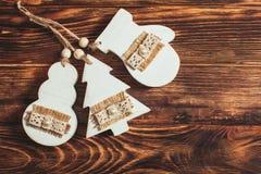 Wooden Christmas decor Stock Photos