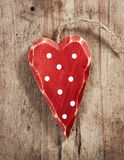 Wooden christmas decoration heart Stock Photos