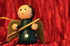 Wooden Christmas decoration - Little Angel Stock Photo