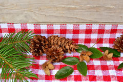 Wooden Christmas Decoration Stock Photography