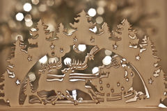 Wooden christmas decoration Royalty Free Stock Images