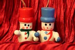 Wooden Christmas decoration - Snowmen Royalty Free Stock Photo