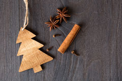 Wooden christmas decoration Stock Photos