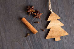 Wooden christmas decoration Royalty Free Stock Photography