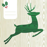 Wooden Christmas deer silhouette Royalty Free Stock Photo