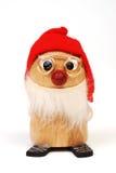 Wooden Christmas Elf 1. Miniature wooden Christmas figure looking somewhat like a Santa's helper elf Royalty Free Stock Photo