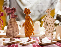 Wooden Christmas figures Stock Photos