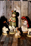 Wooden Christmas Figures Royalty Free Stock Photo
