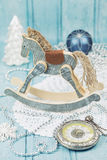 Wooden christmas horse Stock Photography