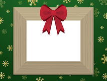 Wooden christmas picture frame Royalty Free Stock Photos