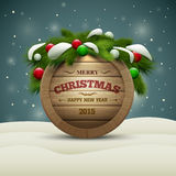 Wooden Christmas Signboard Stock Photography