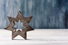 Wooden christmas star Royalty Free Stock Images
