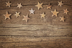 Wooden christmas stars Royalty Free Stock Photos
