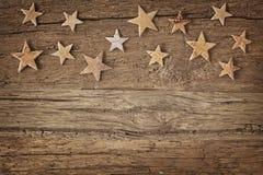 Wooden christmas stars Royalty Free Stock Photos