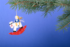 Wooden Christmas toy Stock Image