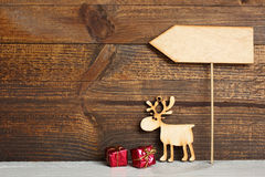 Wooden Christmas toy Stock Images