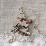 Wooden christmas tree Stock Images