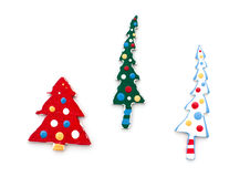 Wooden christmas tree Royalty Free Stock Photo