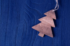Wooden christmas tree Stock Photos