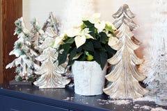 Wooden Christmas tree stock photos