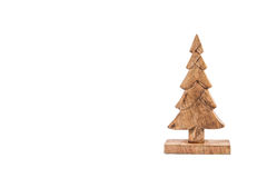 Wooden christmas tree isolated on white. Christmas background Royalty Free Stock Images