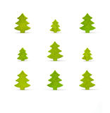 Wooden Christmas tree Royalty Free Stock Images