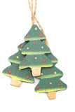 Wooden Christmas trees Royalty Free Stock Images