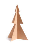Wooden Christmas trees. Isolated on white background Stock Images