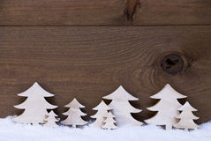 Free Wooden Christmas Trees On Snow, Copy Space Stock Images - 59737834