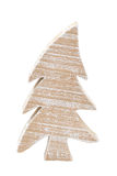 Wooden christmastree. Isolated on white background Royalty Free Stock Photos