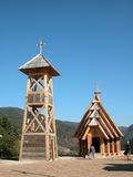 Wooden church. Is placed in village Mecavnik, Mokra gora, Serbia. Whole ethno village was built by famous film director, Emir Kusturica Stock Images