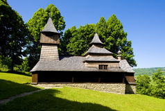 Wooden church. In Lukov, Slovakia Royalty Free Stock Photography