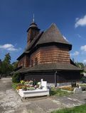 The wooden church Stock Images
