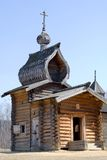 Wooden church of 17th century. In the Ilim ostrog (Ilim ostrog is protection enclosure of 16th century - one of the first russian settlement in the east siberia Stock Images