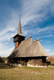 Wooden church. Romanian wooden orthodox church from the Northern part of the country, Maramures stock images