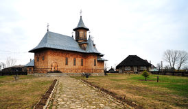 Orthodox wooden church in Romania Stock Photo