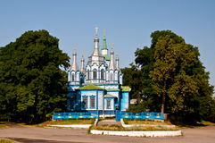 Wooden church of the 19th century. Village Lukashi, Kiev region, Ukraine Royalty Free Stock Image