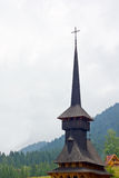 Wooden church. A wooden church against cloudy skyline Royalty Free Stock Photography