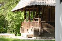 Wooden church. From Dimitrie Gusti village museum in Bucharest, Romania Royalty Free Stock Photography