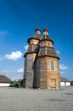 Wooden church. Ancient Cossack church. Zaporozhye. Ukraine Stock Images