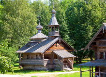 Free Wooden Church Against The Wood.Open-air Museum Of  Ancient Wooden Architecture. Russia. Vitoslavlitsy, Great  Novgorod. Royalty Free Stock Image - 32603326