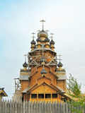 Wooden church of All Saints. Territory of The Holy Mountains historical architectural reserve, location: Donbass, Ukraine Stock Photo
