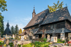 Wooden Church All Saints in Tvrdosin Royalty Free Stock Photos