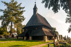 Wooden Church All Saints in Tvrdosin Royalty Free Stock Image