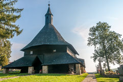 Wooden Church All Saints in Tvrdosin Royalty Free Stock Images