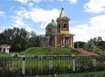 The wooden church of Archangel Michael in Gomel. Church of Archangel Michael moved in with Dobrush Gomel region. This is a unique monument to the victims of Royalty Free Stock Photos