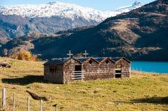 Wooden church in Bahia exploradores Carretera Austral, Highway 7 Stock Image