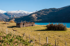 Wooden church in Bahia exploradores Carretera Austral, Highway 7 Royalty Free Stock Photo