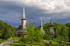 Wooden church of Barsana monastery. Maramures region Royalty Free Stock Photography