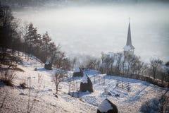 Wooden church in Barsana, Romania Royalty Free Stock Photos